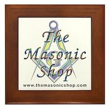 The Masonic Shop Logo Framed Tile