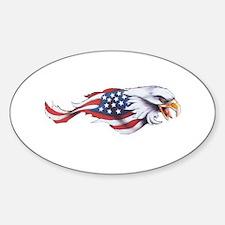 American Flag Eagle Decal