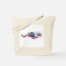 Funny Bald eagle flag Tote Bag