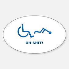 Disabled Stuck Sticker (Oval)