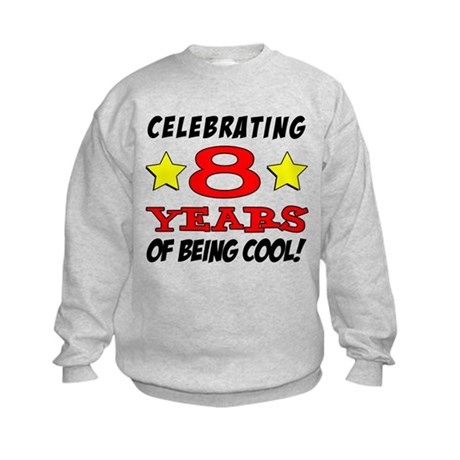 Celebrating 8 Years Kids Sweatshirt