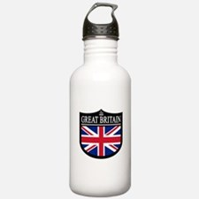 Great Brit (Crown) Patch Water Bottle