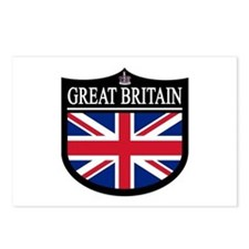 Great Brit (Crown) Patch Postcards (Package of 8)