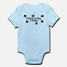 I Want to Play a Game Jigsaw Infant Bodysuit