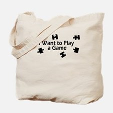 I Want to Play a Game Jigsaw Tote Bag