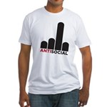 Antisocial Fitted T-Shirt