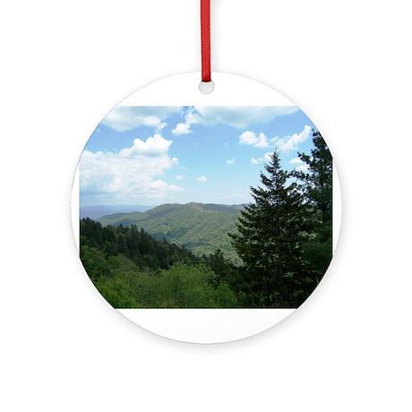 Great Smokey Mountains Ornament (Round)