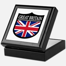 Great Britain Patch Keepsake Box