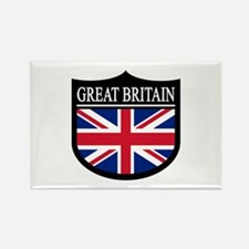 Great Britain Patch Rectangle Magnet (100 pack)