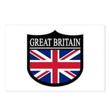 Great Britain Patch Postcards (Package of 8)