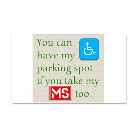 MS Parking Spot Car Magnet 20 x 12