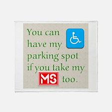 MS Parking Spot Throw Blanket
