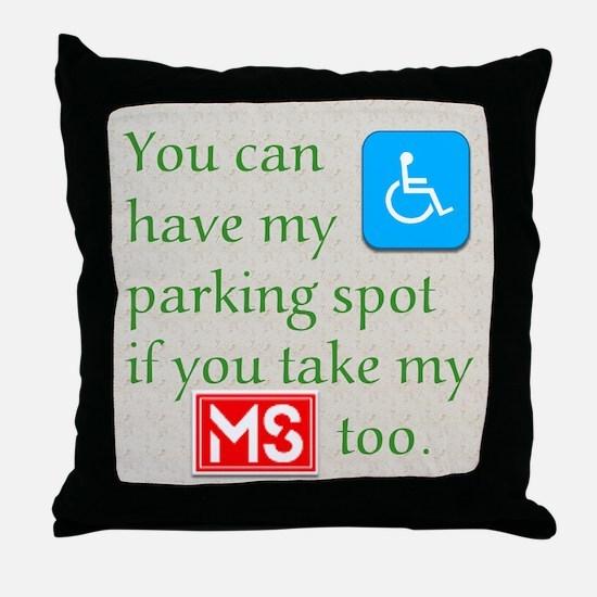 MS Parking Spot Throw Pillow