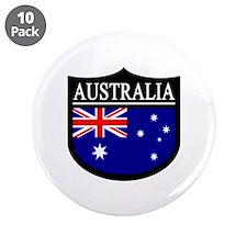 "Australia Patch 3.5"" Button (10 pack)"