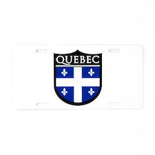 Quebec Flag Patch Aluminum License Plate