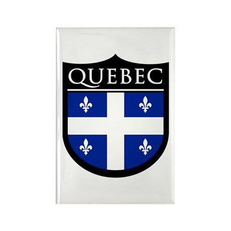 Quebec Flag Patch Rectangle Magnet (100 pack)