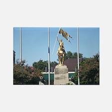 Saint Joan of Arc statue Rectangle Magnet