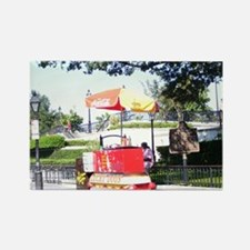 Lucky Dog Stand Rectangle Magnet