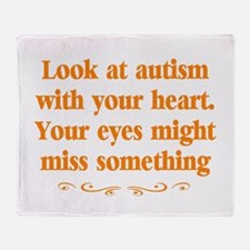 Autism teacher Throw Blanket