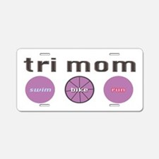 Cute Sports triathlon Aluminum License Plate