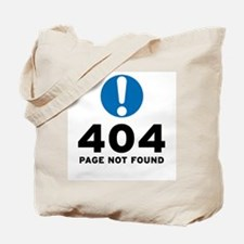 404 Error Tote Bag
