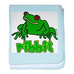 Ribbit Frog baby blanket