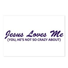 Jesus Loves Me You Not Postcards (Package of 8)