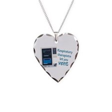 Cute Respiratory therapy Necklace Heart Charm