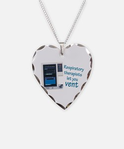 Funny Respiratory therapy Necklace Heart Charm