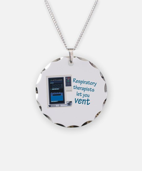 Cute Respiratory therapy Necklace Circle Charm