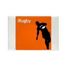 iRugby Orange Rugby Store Rectangle Magnet