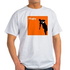 iRugby Orange Rugby Store Ash Grey T-Shirt