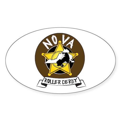 NOVA Roller Derby Sticker (Oval)