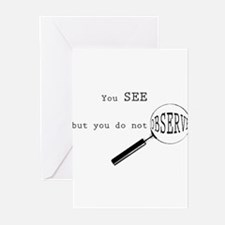 see but not observe Greeting Cards