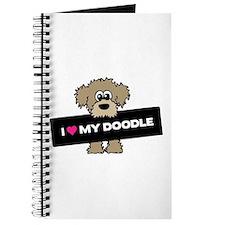Cute Brown labradoodle Journal