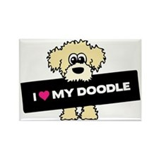 Unique Labradoodle Rectangle Magnet