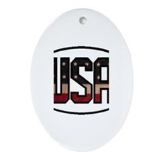 USA OVAL STICKERS & MORE! Ornament (Oval)