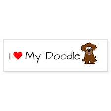 I Love My Doodle Bumper Bumper Sticker