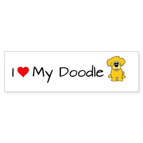 I Love My Doodle Bumper Sticker