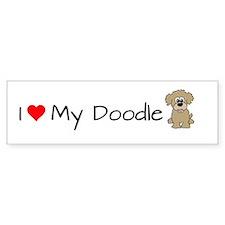 Cute Labradoodle Bumper Sticker
