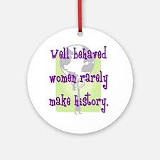 Women Make History Ornament (Round)