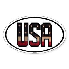 USA OVAL STICKERS & MORE! Decal