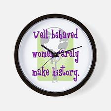 Women Make History Wall Clock