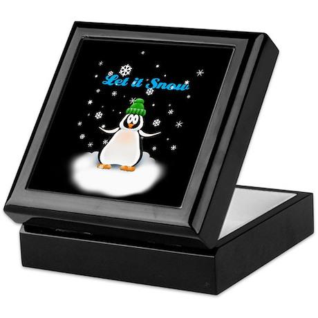 Let it Snow Penguin Keepsake Box