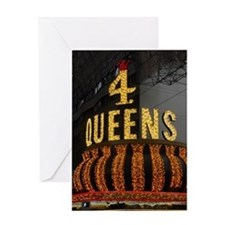 4 Queens Las Vegas Greeting Card