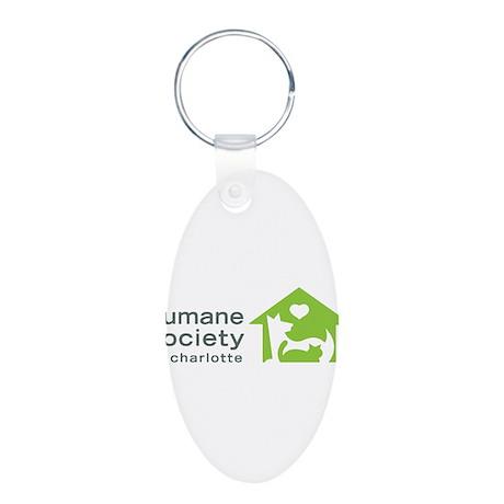Humane Society of Charlotte Aluminum Oval Keychain