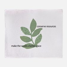 Make the WORLD a Better Place Throw Blanket