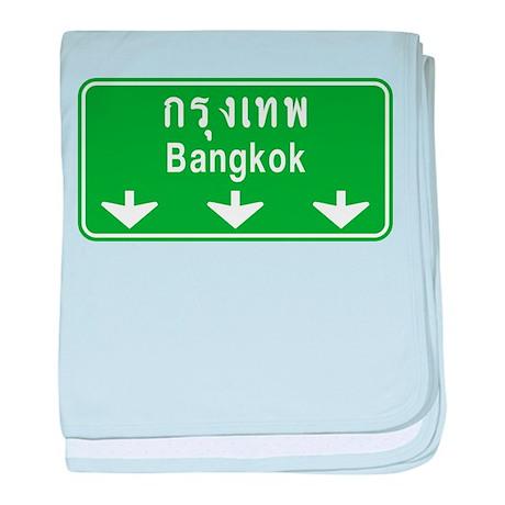 Bangkok Ahead Thai Sign baby blanket