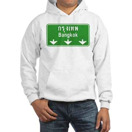 Bangkok Ahead Thai Sign Hooded Sweatshirt