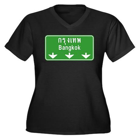 Bangkok Ahead Thai Sign Women's Plus Size V-Neck D
